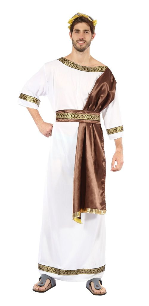 Mens Greek God with Costume Ancient Greecian Roman Latin Fancy Dress Outfit